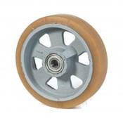 Vulkollan® Bayer  Lauffläche Radkörper aus Gußeisen, Ø 125x40mm, 400KG