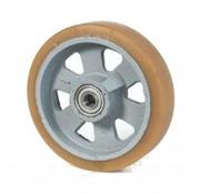 poliuretano Vulkollan® fascia centro della ruota in ghisa, Ø 125x40mm, 400KG