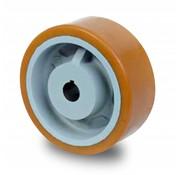 Rueda motriz poliuretano Vulkollan® bandaje núcleo de rueda de hierro fundido, Ø 350x80mm, 2100KG