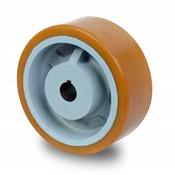Drivhjul, Hjulfælg Vulkollan® Bayer hjulbane støbegods, Ø 300x80mm, 1900KG