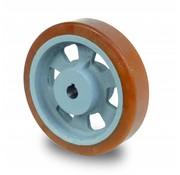 Rueda motriz poliuretano Vulkollan® bandaje núcleo de rueda de hierro fundido, Ø 160x50mm, 700KG