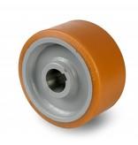 Schwerlast Räder und Rollen Antriebsräder Vulkollan® Bayer  Lauffläche Radkörper aus Stahlschweiß, H7-Bohrung Bohrung mit Paßfedernut DIN 6885 JS9, Rad-Ø 425mm, 80KG