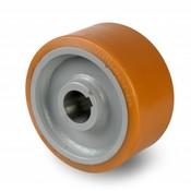 Drivhjul, Hjulfælg Vulkollan® Bayer hjulbane kerne af stål Svejste, Ø 400x100mm, 3000KG