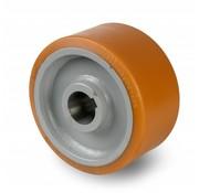 Rueda motriz poliuretano Vulkollan® bandaje núcleo de rueda de acero fundido, Ø 400x100mm, 3000KG