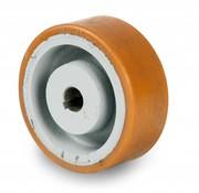 Drivhjul, Hjulfælg Vulkollan® Bayer hjulbane støbegods, Ø 250x80mm, 1850KG