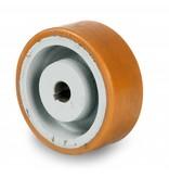 Schwerlast Räder und Rollen Antriebsräder Vulkollan® Bayer  Lauffläche Radkörper aus Gußeisen, H7-Bohrung Bohrung mit Paßfedernut DIN 6885 JS9, Rad-Ø 250mm, 75KG