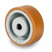 Antriebsräder Vulkollan® Bayer  Lauffläche Radkörper aus Gußeisen, Ø 125x50mm, 500KG