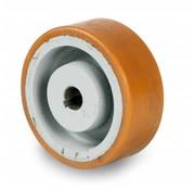 Roulettes de manutention Vulkollan® Bayer roues bandage de roulement Corps de roue fonte, Ø 125x50mm, 500KG