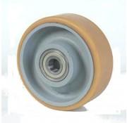 poliuretano Vulkollan® fascia centro della ruota in ghisa, Ø 125x40mm, 450KG