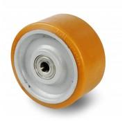 poliuretano Vulkollan® fascia centro della ruota in lamiera elettrosaldato, Ø 450x100mm, 3500KG