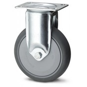 Fixed caster, Ø 125mm, thermoplastic rubber grey non-marking, 100KG