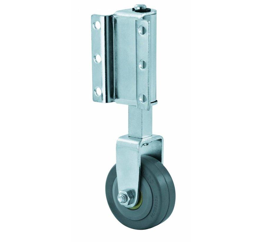 ladder wheel, thermoplastic rubber gray non-marking, Wheel-Ø 50mm, 50KG