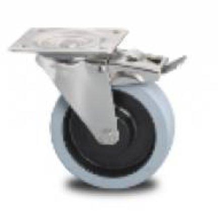 Stal nierdzewna widelec ze stali nierdzewnej, wulkanizowana guma elastyczna taśma, łożysko kulkowe + uszczelka kurz