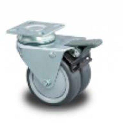 Gerätedoppelräder mit Lauffläche aus Polypropylen oder Gummi