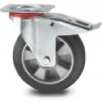 Elastyczna guma, aluminium Piasta, łożysko kulkowe, do 400 kg