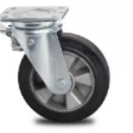 TOP Kvalitet intensive & Heavy Duty transport hjul, Elastisk gummi dæk og kugleleje