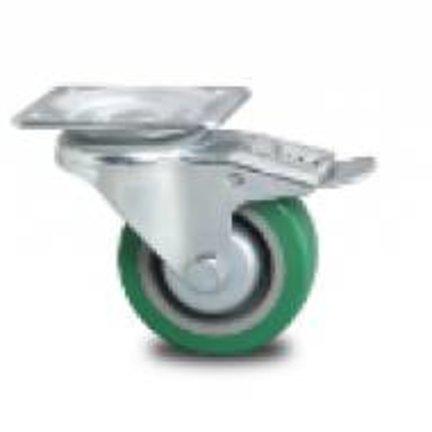 Faste og drejelige hjul med forstærket gaffel & polyurethan slidbane