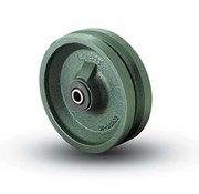V groove wheel, Ø 150mm, Solid steel, 1000KG