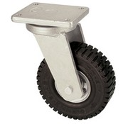 Roda giratória com super roda de borracha elástica 406 milímetros, capacidade de carga: 945 kg a 6 kmh
