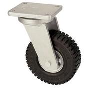 Ruota girevole con eccellente ruote in gomma elastica 406 millimetri, capacità di carico: 945 kg a 6 chilometri all'ora