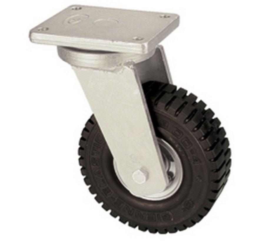 Rueda giratoria con super rueda de goma elástica 406 mm, capacidad de carga: 945 kg en 6 kmh