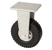 Fixed castor with super elastic rubber wheel 406 mm, load capacity: 950 KG at 6 km/h