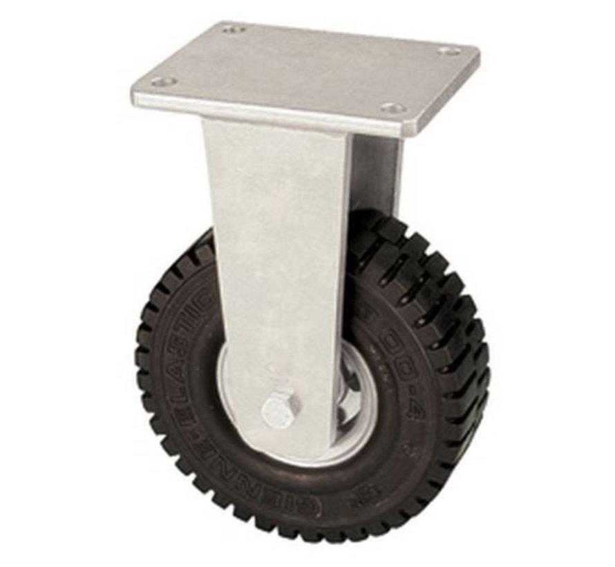 Ricino fijo con super rueda de goma elástica 406 mm, capacidad de carga: 950 kg en 6 kmh