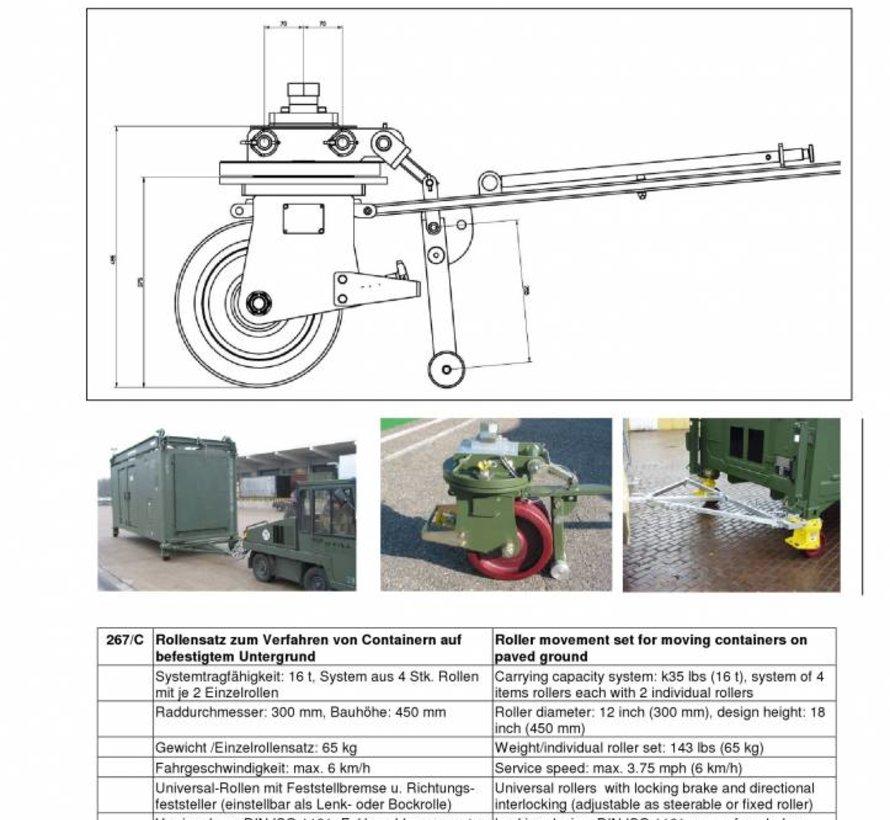 Ricin conteneur ISO de fret fixé de 16 tonnes
