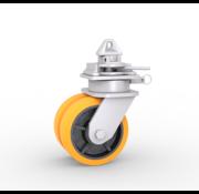 Procurez-vous des roulettes avec un raccord tournant pour NEN ISO 1161-corners. | 3.000 kg par roulette