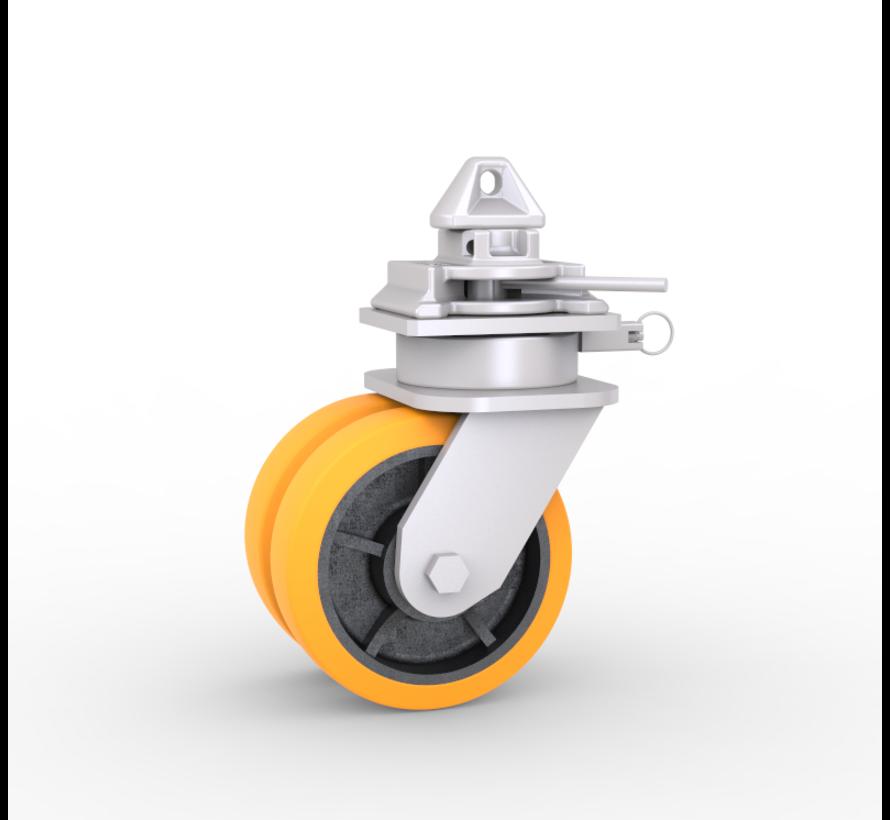 Kółko narożne kontenera ISO   Każde koło ma ładowność 3.000 kg