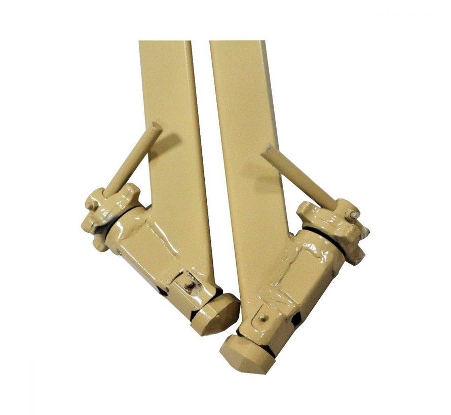 Conecta-se aos cantos do iso 1161 dos contentores de carga para rebocar plataformas ou transportar contentores sobre rodas. AGORA em stock.