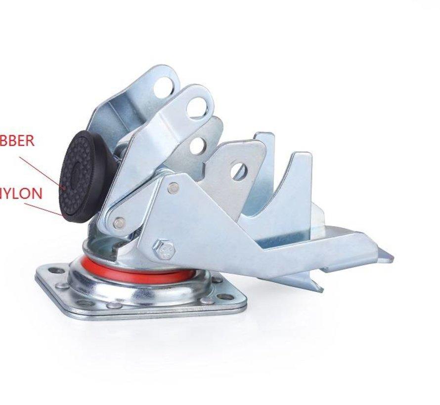 Roulette niveleuse à pédale avec roue en nylon 80x40mm, capacité de charge 350KG - Manipulation facile avec pédale