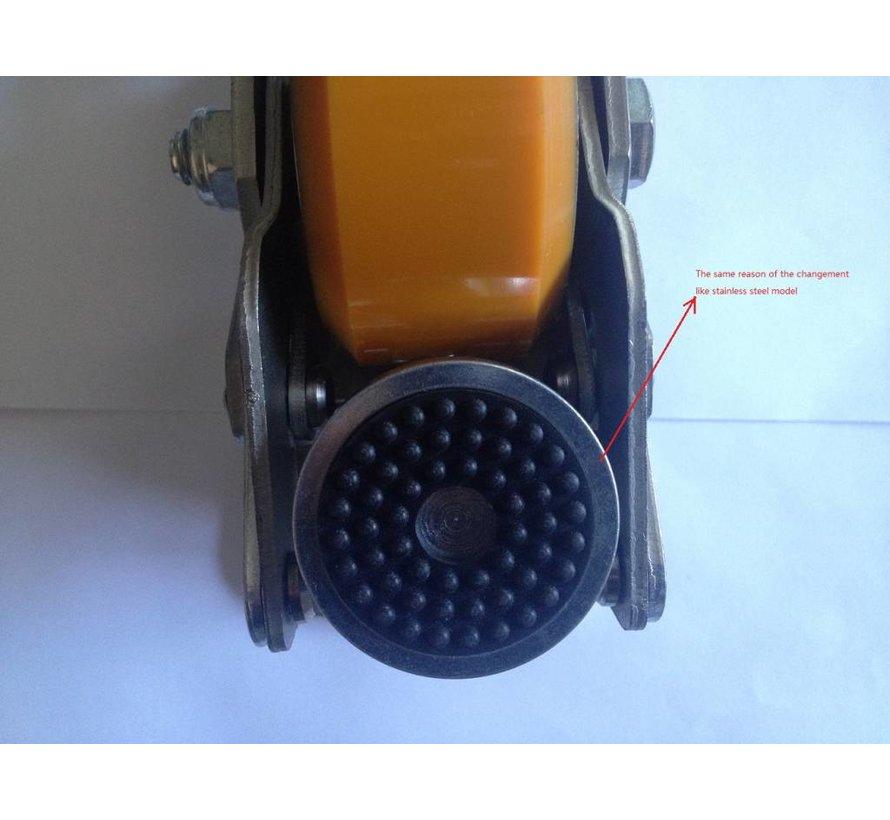 À pédale Mise de niveau fixe Roulette avec bande de roulement de roue 75x40mm de polyuréthane, capacité de charge 300KG
