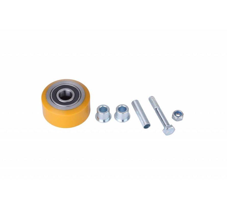 Fußbetätigte festen Leveling Caster mit 75x40mm Polyurethan Radlauffläche, Belastbarkeit 300KG