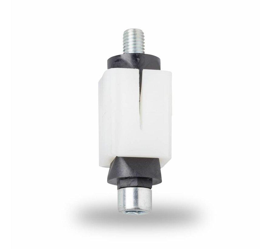 M8 manguito expansivo, manguito expansivas para tubo cuadrado: 17,0 - 20,9 mm