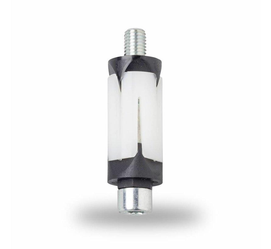 M8 fixation expansible pour tubes, fixation pour tube carrée: 15,5 - 17,4 mm