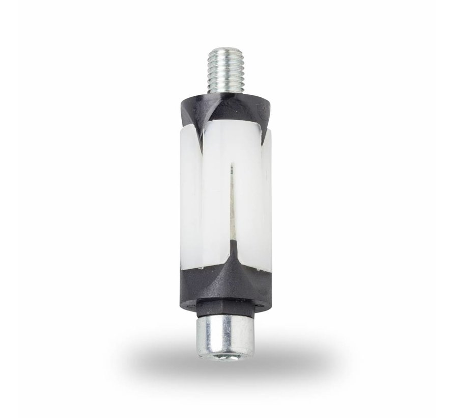 M8 manguito expansivo, manguito expansivas para tubo redondo: 15,5 - 17,4 mm