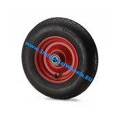 Hjul, Ø 400mm, Dæk blokprofil, 250KG