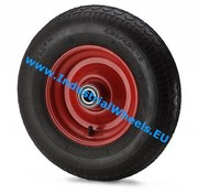 Wheel, Ø 400mm, pneumatic tyre block profile, 250KG