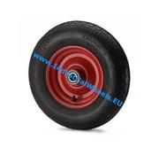 Ruota, Ø 300mm, gomma pneumatica profilo scolpito, 300KG