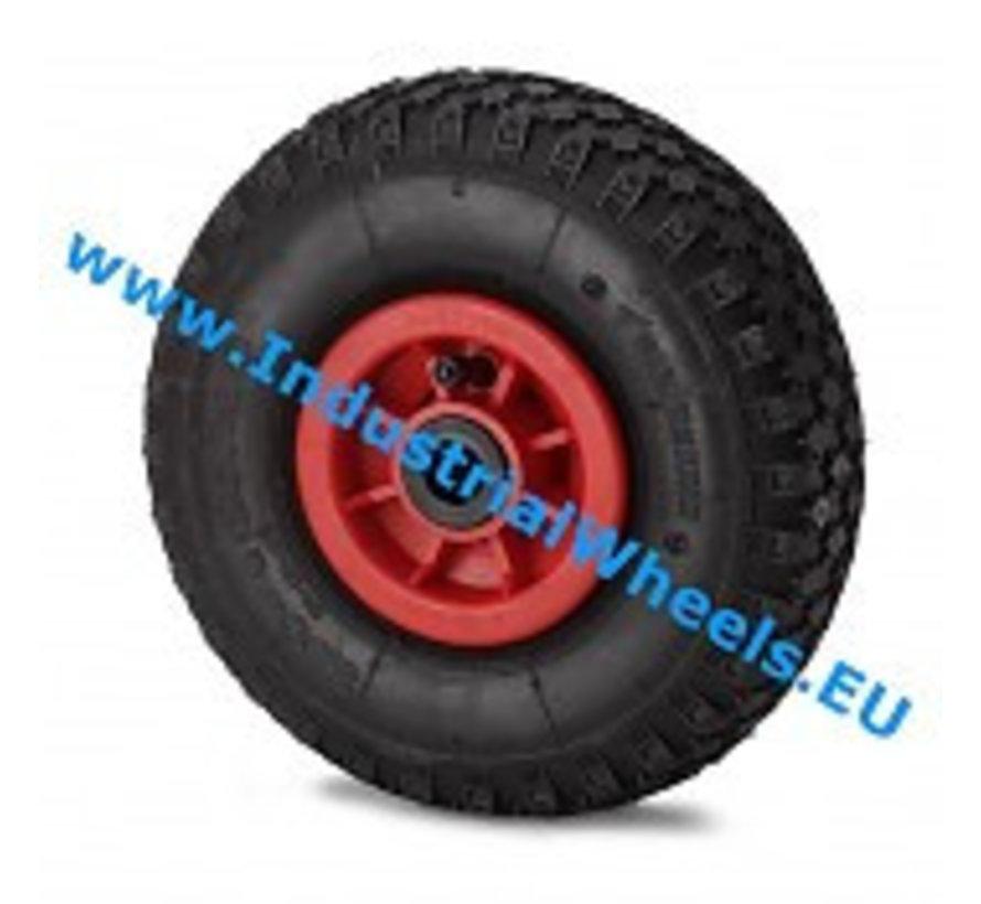Zestawy kołowe transportowe Koło  pneumatyczna profilem kostkowym, łożysko ślizgowe, Koło-Ø 260mm, 150KG
