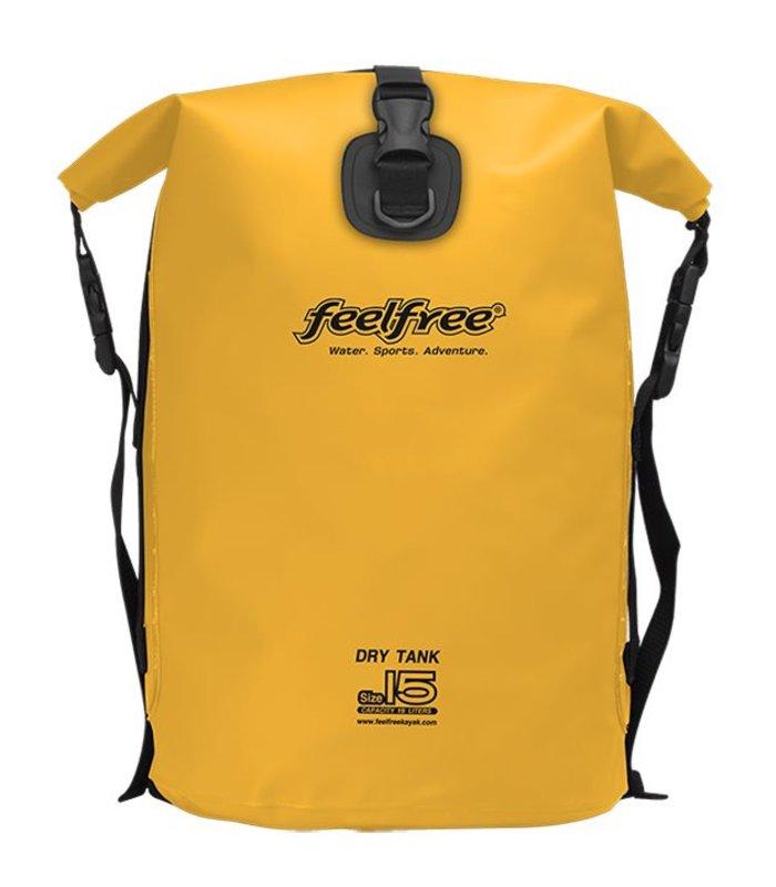 Feelfree Drytank 15 liter geel