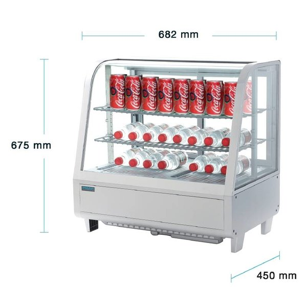 Polar Koelvitrine 100 Liter - Wit