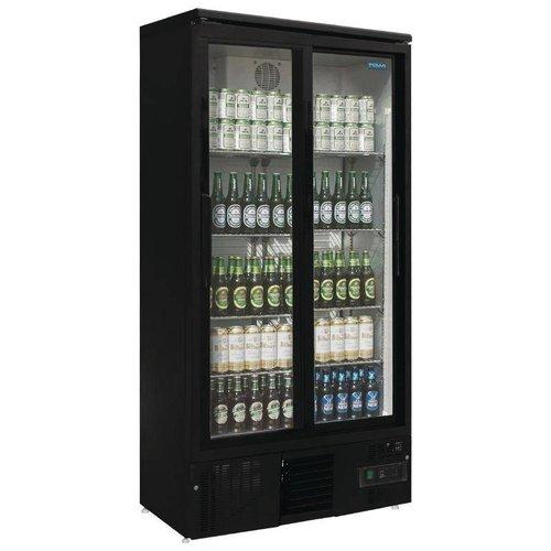 Polar koelkast met 2 glazen schuifdeuren - 490 Liter