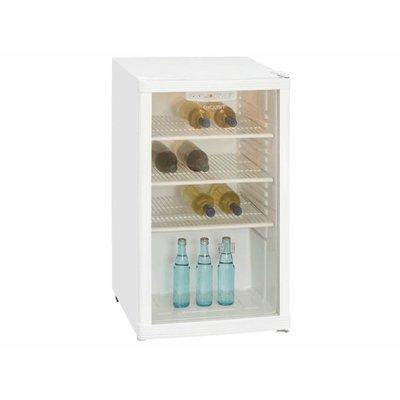 Exquisit Koelkast met glazen deur - 100 liter