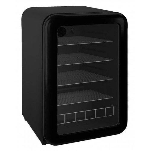 Retro koelkast glazen deur - Zwart
