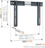 Vogel's THIN 405 ExtraThin Fixed TV Wall Mount