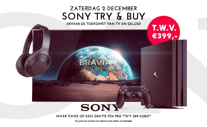 Sony Try & Buy: Ervaar de toekomst van TV en Geluid