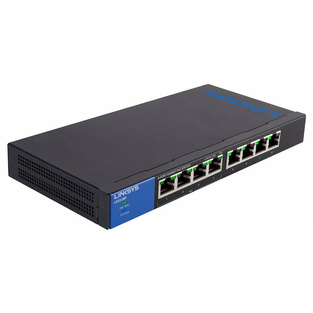 Linksys LGS108P-EU 8-Port Desktop Gigabit PoE+ Switch