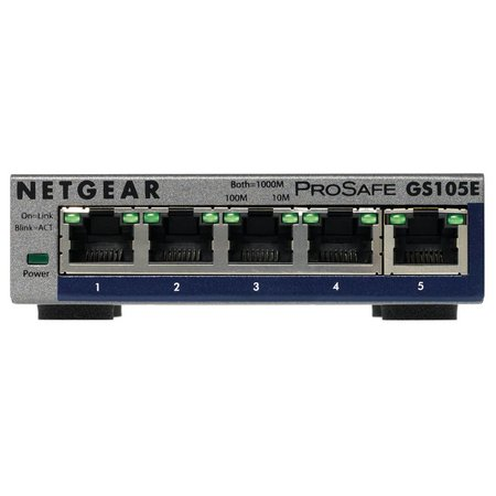 Netgear GS105E ProSafe Plus 5-Port Gigabit Switch